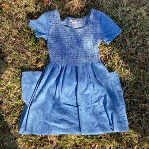 VTG 90s Maxi Denim Dress 🦋
